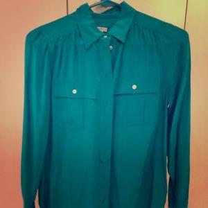 Tops - Jcrew silk shirt. Great fit. Hardly worn